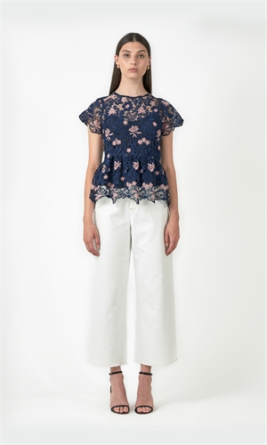 THE FLOWERS LACE TOP-brand-RUBY