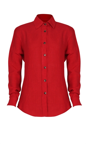 BAILEY LINEN SHIRT-we did it-RUBY