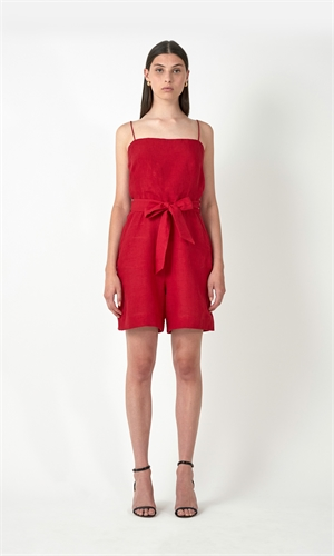 BAILEY LINEN PLAYSUIT-brand-RUBY
