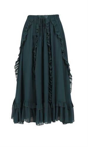 PHANTOM RUFFLE SKIRT-the colour edit-RUBY