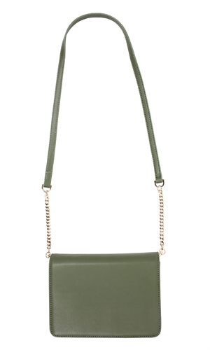ZADIE LEATHER CHAIN BAG-ruby-RUBY