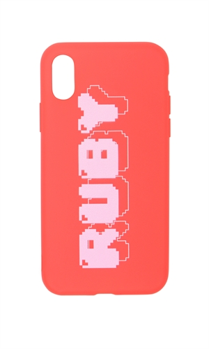 8-BIT RUBY IPHONE X CASE-brand-RUBY