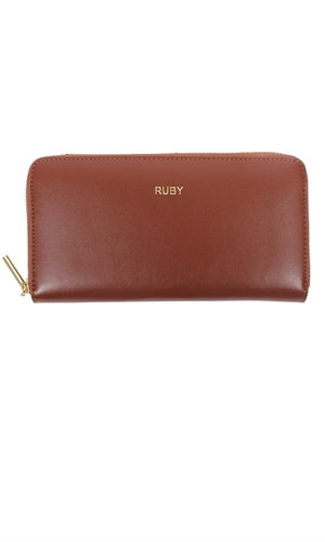 LEATHER ZIP UP WALLET-brand-RUBY