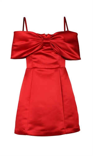 YUKO BOW MINIDRESS-brand-RUBY