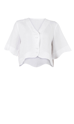 CLAUDIA LINEN BLOUSE-brand-RUBY