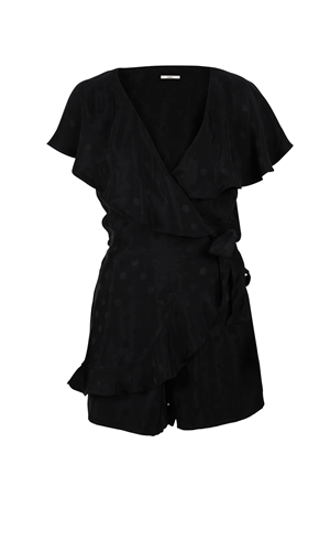 GLORIA WRAP PLAYSUIT-made in new zealand-RUBY