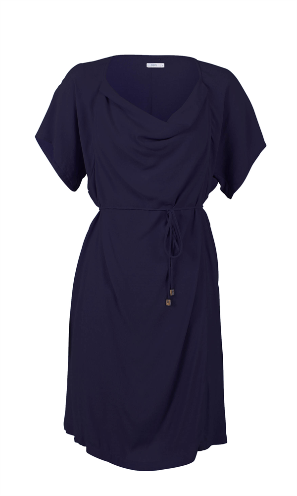 LAURA COWL NECK DRESS