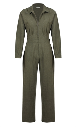 FAIRFAX LINEN BOILERSUIT-ruby-RUBY