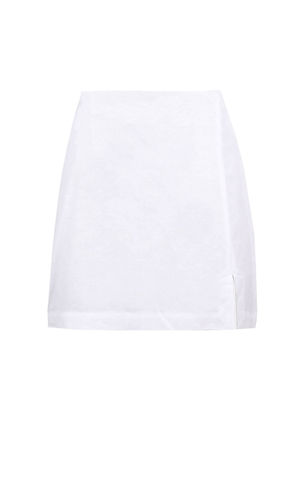 ALLORA LINEN MINISKIRT-$150 & under-RUBY