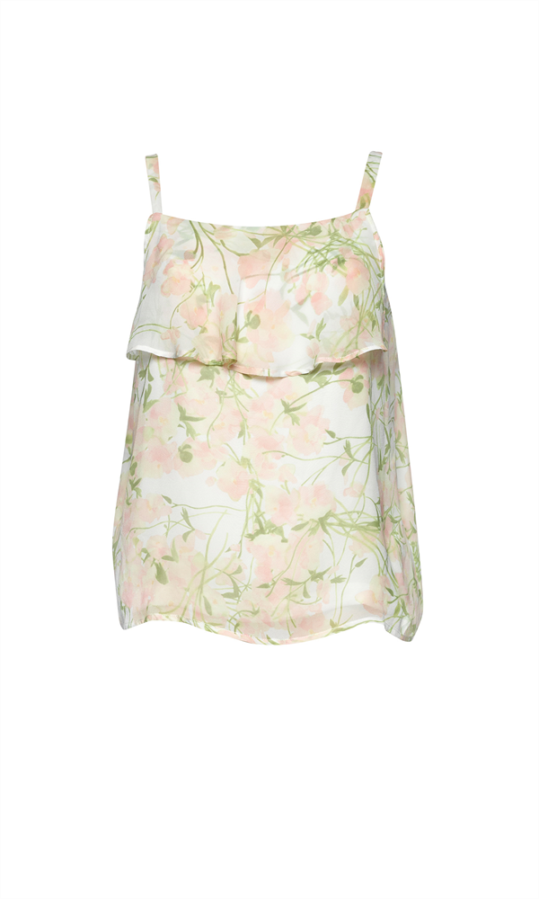 WATERCOLOUR FLOUNCE TOP