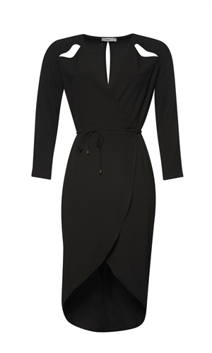 CAESURA WRAP DRESS-liam-RUBY
