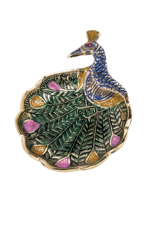 PEACOCK TRINKET DISH-accessories-RUBY