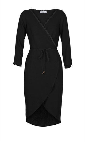 PROXY WRAP DRESS-liam-RUBY