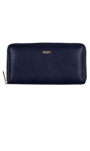 ZIP UP WALLET -ruby-RUBY