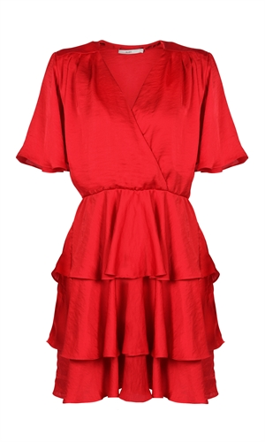 AMORE RUFFLE DRESS-ruby-RUBY