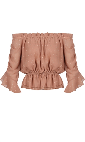 VOLARE RUFFLE BLOUSE-brand-RUBY