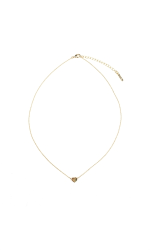 MINI HEART CHAIN CHOKER-ruby-RUBY