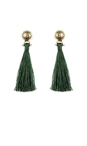 FULL MOON TASSEL EARRING-you've come a long way, baby-RUBY