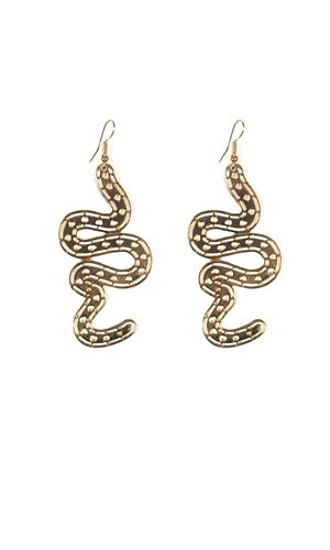 FILIGREE SNAKE EARRING-ruby-RUBY