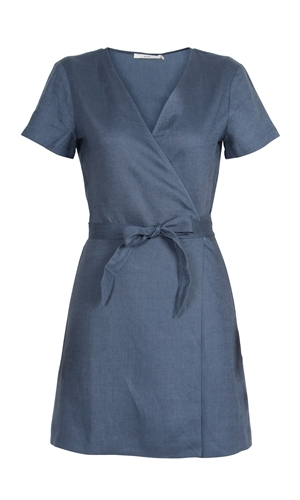 ARIZONA LINEN WRAP DRESS-ruby-RUBY