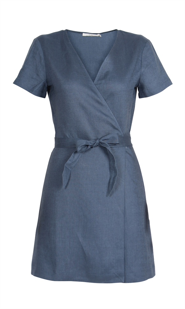 ARIZONA LINEN WRAP DRESS