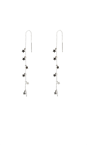 STAR CHAIN EARRING-ruby-RUBY