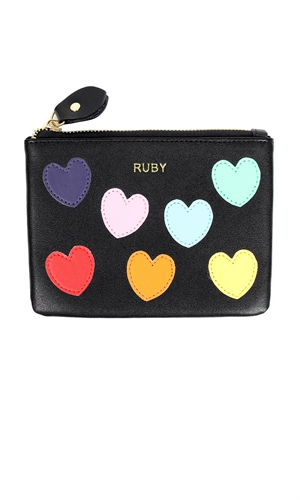 HEART COIN PURSE-the colour edit-RUBY